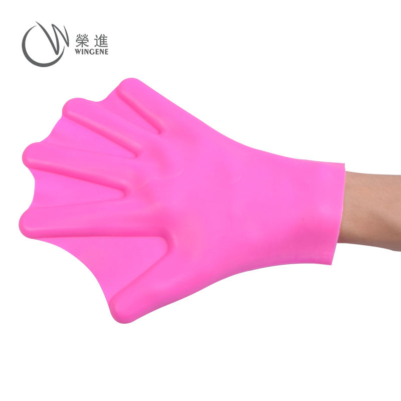 Cheap Price Waterproof Swim Training Finger Webbed Silicone Swimming Gloves