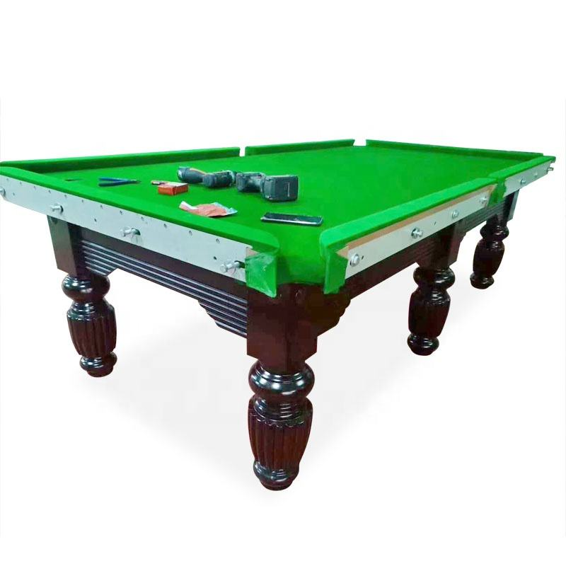 8Ft/9Ft Size Option Customized Snook Billiard Table Snooker Pool Table With Steel Cushion