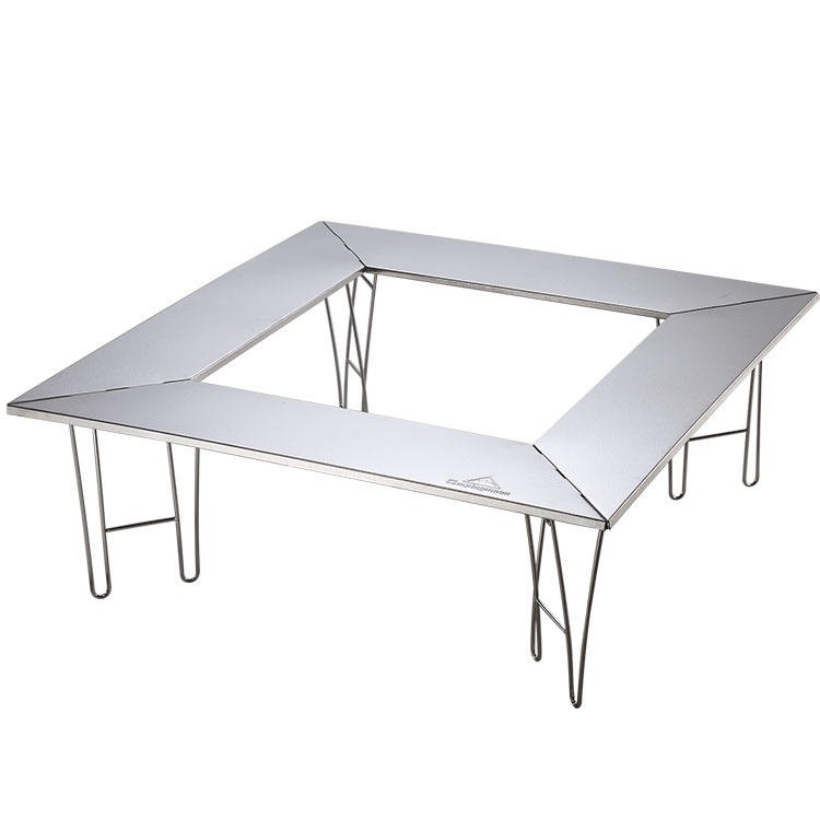 Nieuwe Rvs Portable Afneembare Barbecue <span class=keywords><strong>Tafel</strong></span> <span class=keywords><strong>Bbq</strong></span> Picknick Multifunctionele Outdoor Barbecue Klaptafel