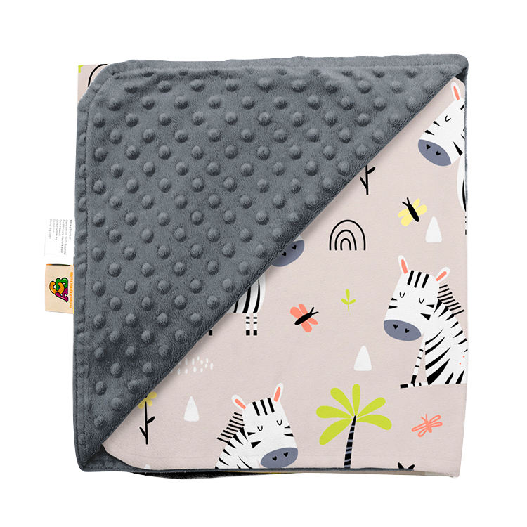 Amazon Hot Selling Machine Washable Variation Print Baby Blanket Minky Dot