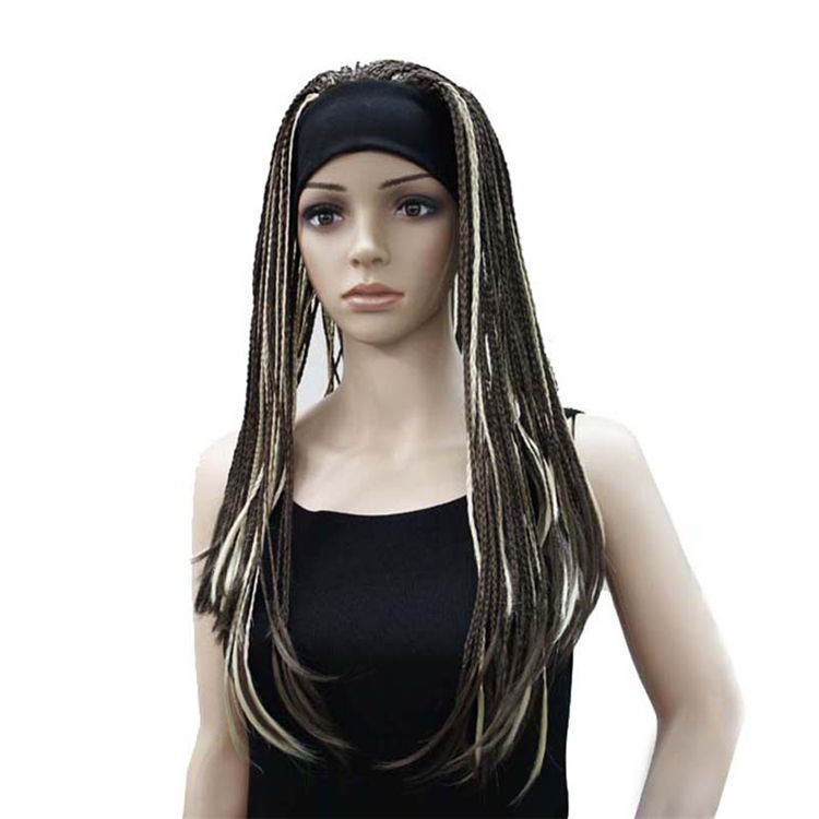 hip-pop style wig long braided hair two different color dreadlocks wig for women
