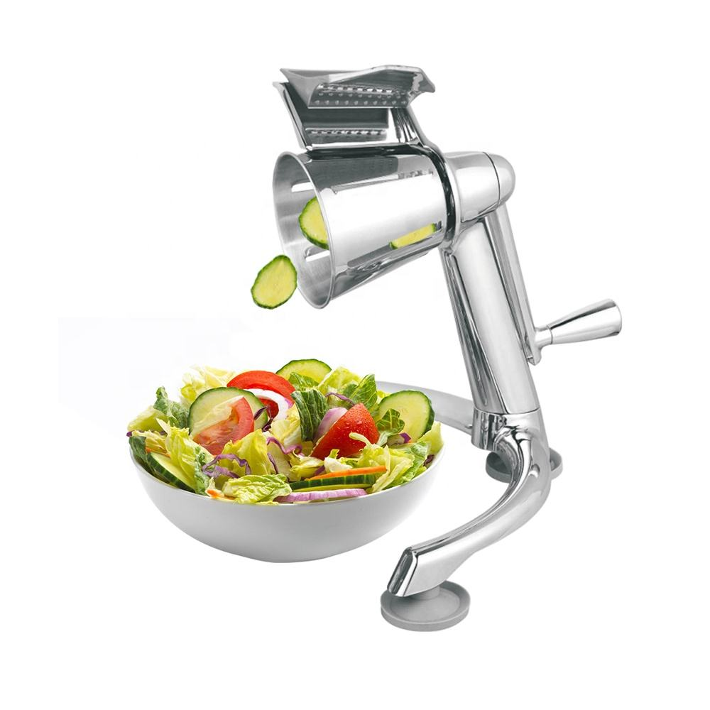 Manual Salad Shooter Food Processor Vegetable Slicer Fruit Cutter Veggie Chopper
