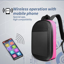 wholesale 2020 hot sales WIFI control promotion LED backpack with led Screen smart led school Backpack for advertising