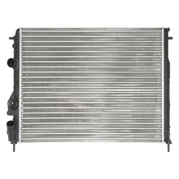 OE 732763R Car Cooling Fan Aluminum Radiator With Spare Parts Cover Silicone Hoses Support Valve Tank Core