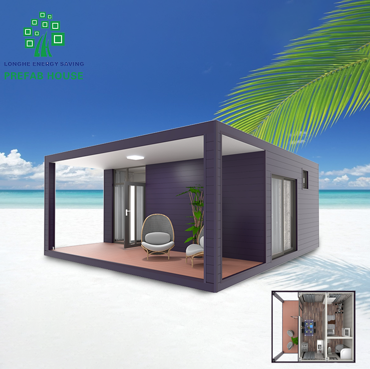 LongHe Super Low Cost Prefabricated House Build Light Steel Villa Tiny Size Container Home Well Design Resort Hotel