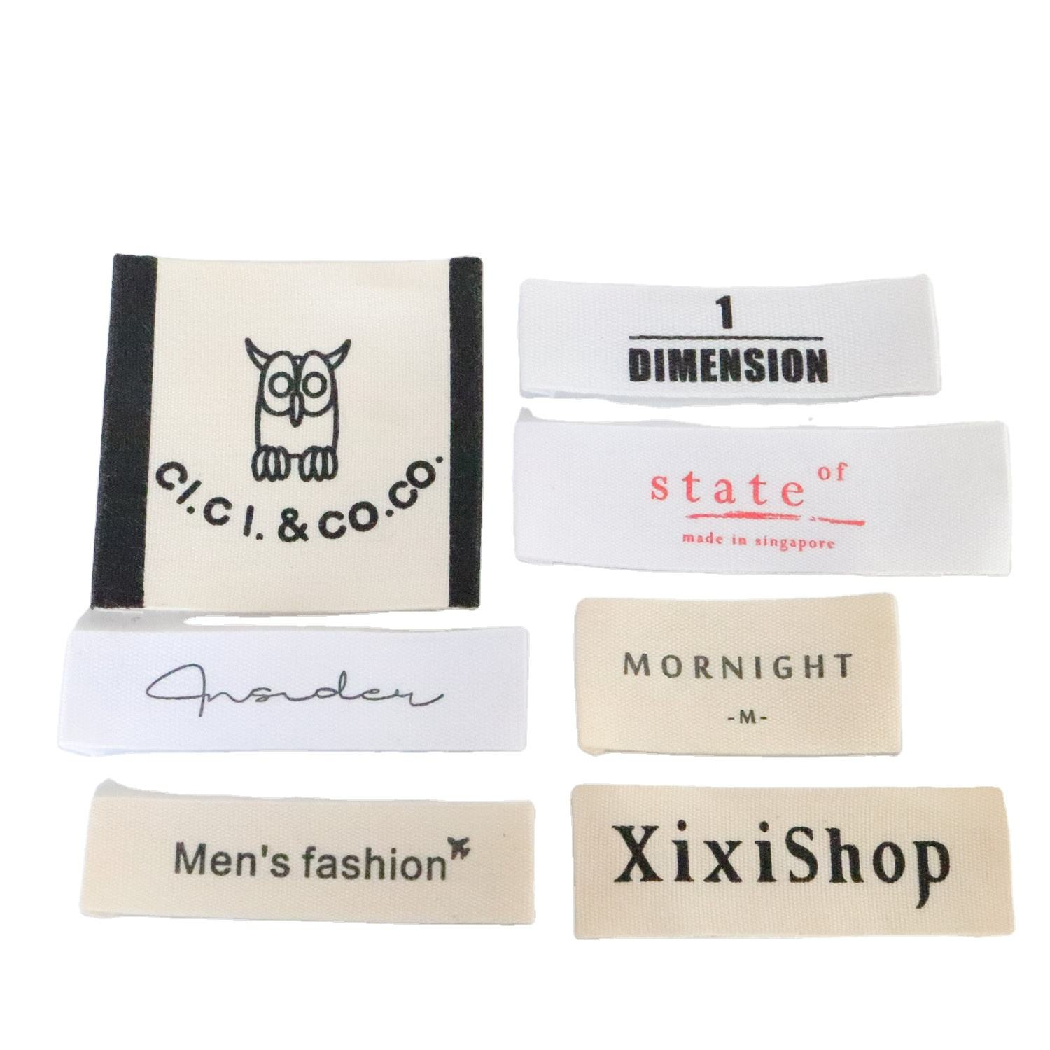 Wholesale Custom Cotton Polyester Woven clothing Labels