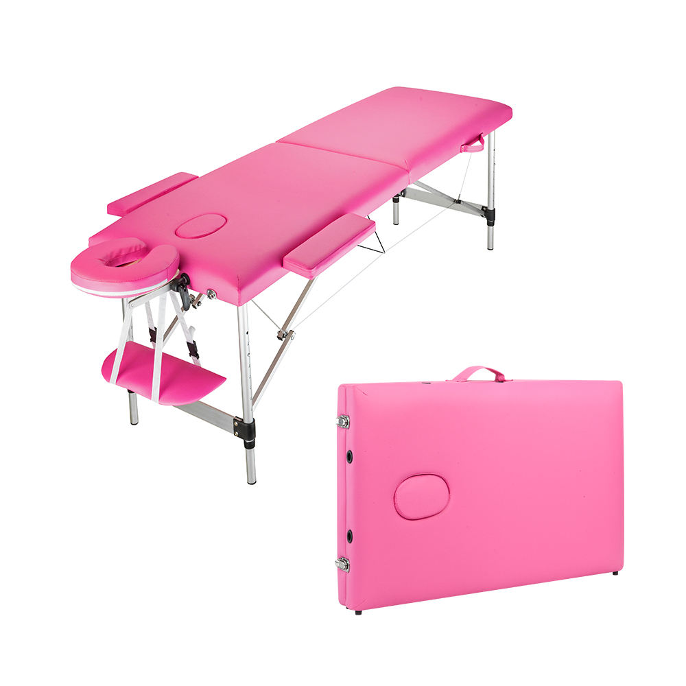 Hot sale Portable collapsible tattoo beauty adjustable massage bed Spa facial Folding moxibustion bed massage table