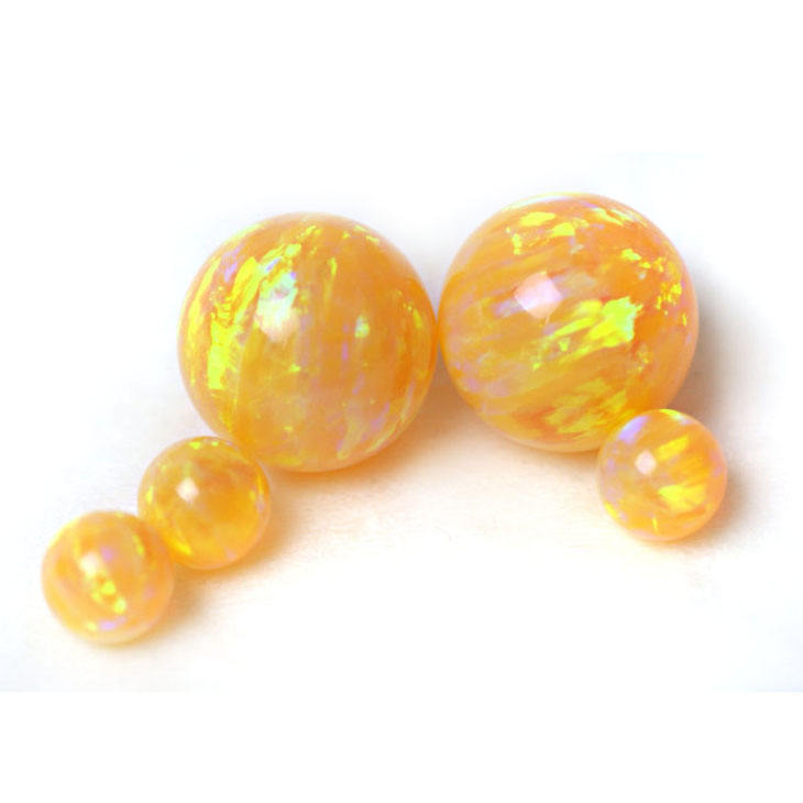 Hot selling synthetic opal 8mm opal round beads