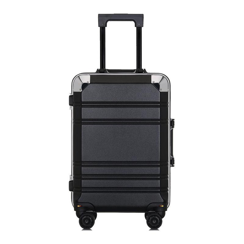 Hongsheng Ultralight Luggage Universal Wheel Aluminum Frame Personalized Fashion Trolley,White,24