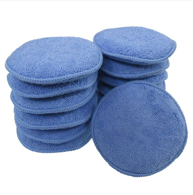 Microfibre Micro Car Wax Pad Microfiber Applicator For Car Cleaning Pads Polishing Detailing