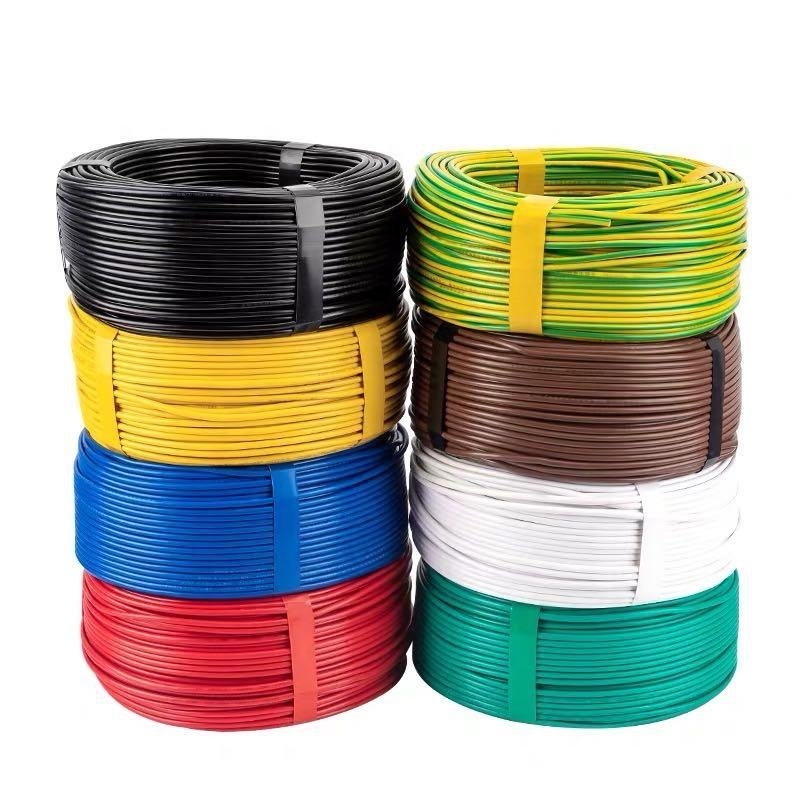 BVR 1mm2 1 Sq 17AWG Gauge Multi Strand Single Core Copper Insulation PVC Flexible Sheathed Price Power Electrical Wire Cable