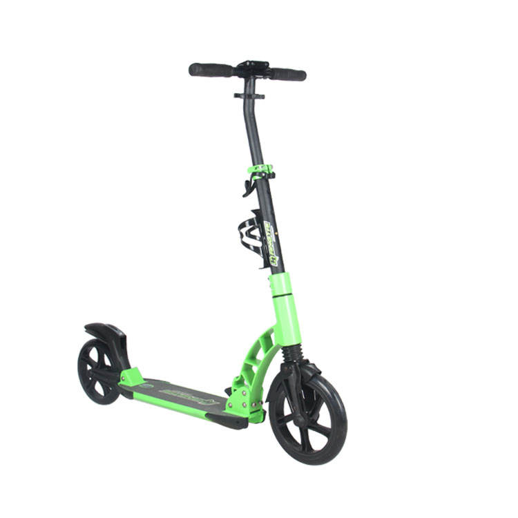 230MM 2 Big Wheel Adult Folding Kick Scooter with double suspension