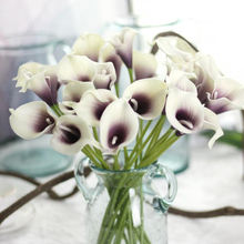 Hot selling high quality real touch artificial flower white calla lily