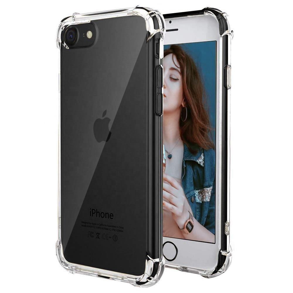 For New iPhone se 2020 Case,Transparent Clear Shock Proof Tpu Bumper Phone Case Cover For iPhone SE 2020 Fundas Para Celulares