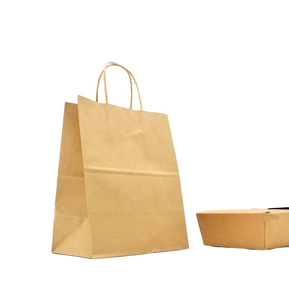 Wholesale Kraft Paper Shopping Eco Bag Carrier