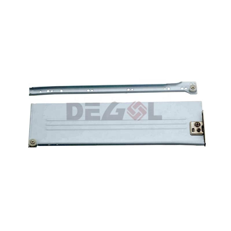 Hot sale steel smooth full-extension soft closing metal box drawer slide