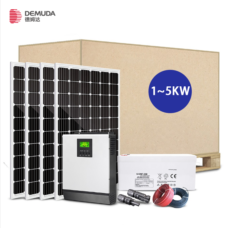 DEMUDA solar mounting 1KW 2KW 4KW 3KW 5KW solar energy systems,SYS-4 48V solar panel power system home