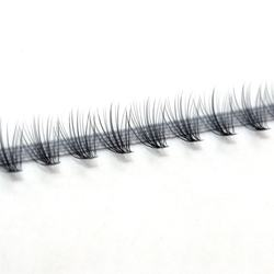 Heat Bonded 0.03 Cluster Lashes 20D Individual Lashes Knot Free Rapid Flare Eyelash Extensions