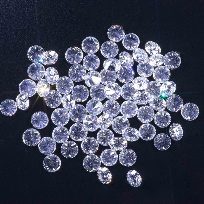 Lab grown round brilliant cut DEF VS well made loose HPHT diamonds 3mm