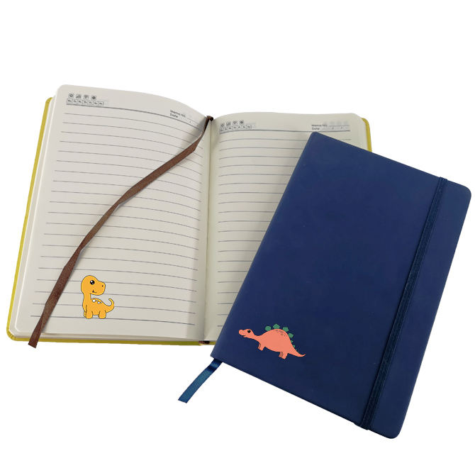 Good Price Custom A4 Agenda Printing Pu Leather Dot Grid Notebook