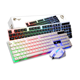 T350 wired usb glowing keyboard mouse computer mechanical feel backlight gaming backlit keyboard mouse combo for home office