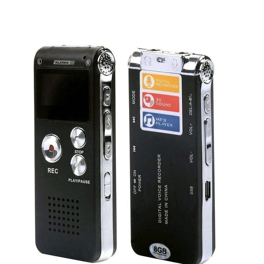 8 GO Mini Enregistreur Vocal <span class=keywords><strong>USB</strong></span> Flash Numérique <span class=keywords><strong>Audio</strong></span> Enregistrement Vocal 650Hr Dictaphone MP3 Joueur