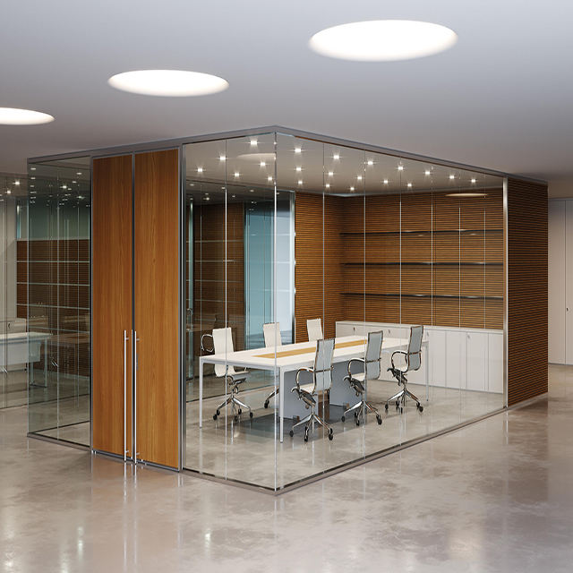 High quality good price modular glass partition wall for office