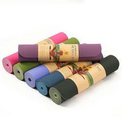 new style eco friendly printed natural rubber fitness tpe yoga mat