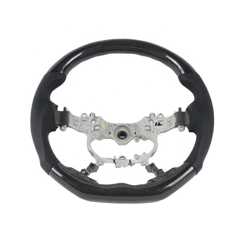 Joeyoung wholesale custom car racing carbon fiber wood steering wheel for toyota vellfire allion innova steering wheel