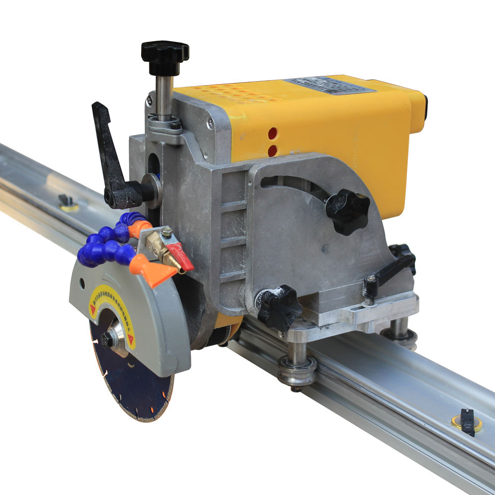 45 Degree stone cutting machine cutter saw with rail guide for Tile granite marble slab