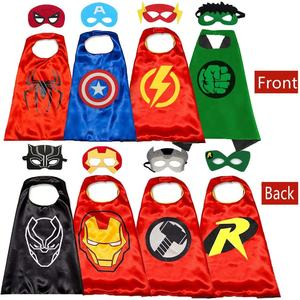 Wholesale Custom NEW Child Favorite Superhero Cosplay Kids Hero Cape Cloak Set Costume For Birthday Party