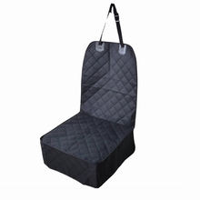 600D Nonslip Durable Waterproof Foldable 2-In-1 Pet Dog Front Car Seat Cover