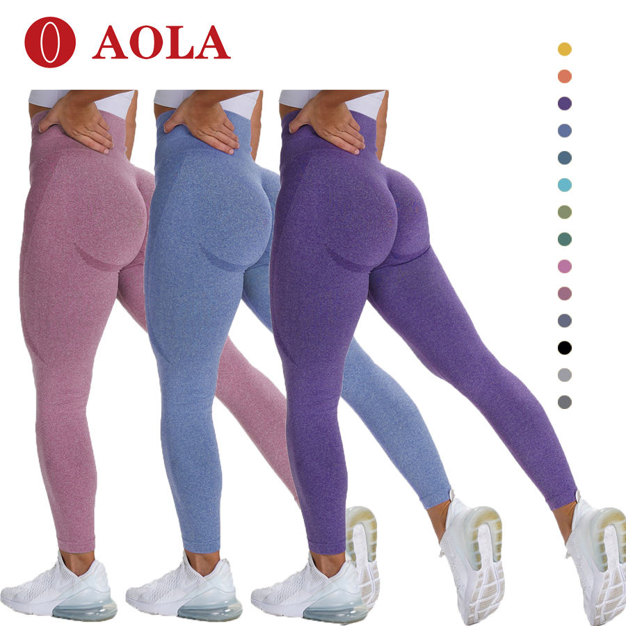 Aola Gym Wear Womens Vrouwen Butt Lift Braziliaanse Geribbelde Custom Nieuwe Scrunch Naadloze Leggings