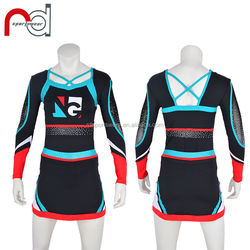 Customized Men's And Women's Matching Apparel Long Sleeve Cheerleading Uniform For Best Dancing Partner