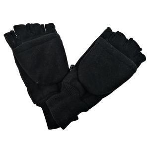 Traditional Winter Warm Fingerless Sewing Fleece Gloves with Flap for Men