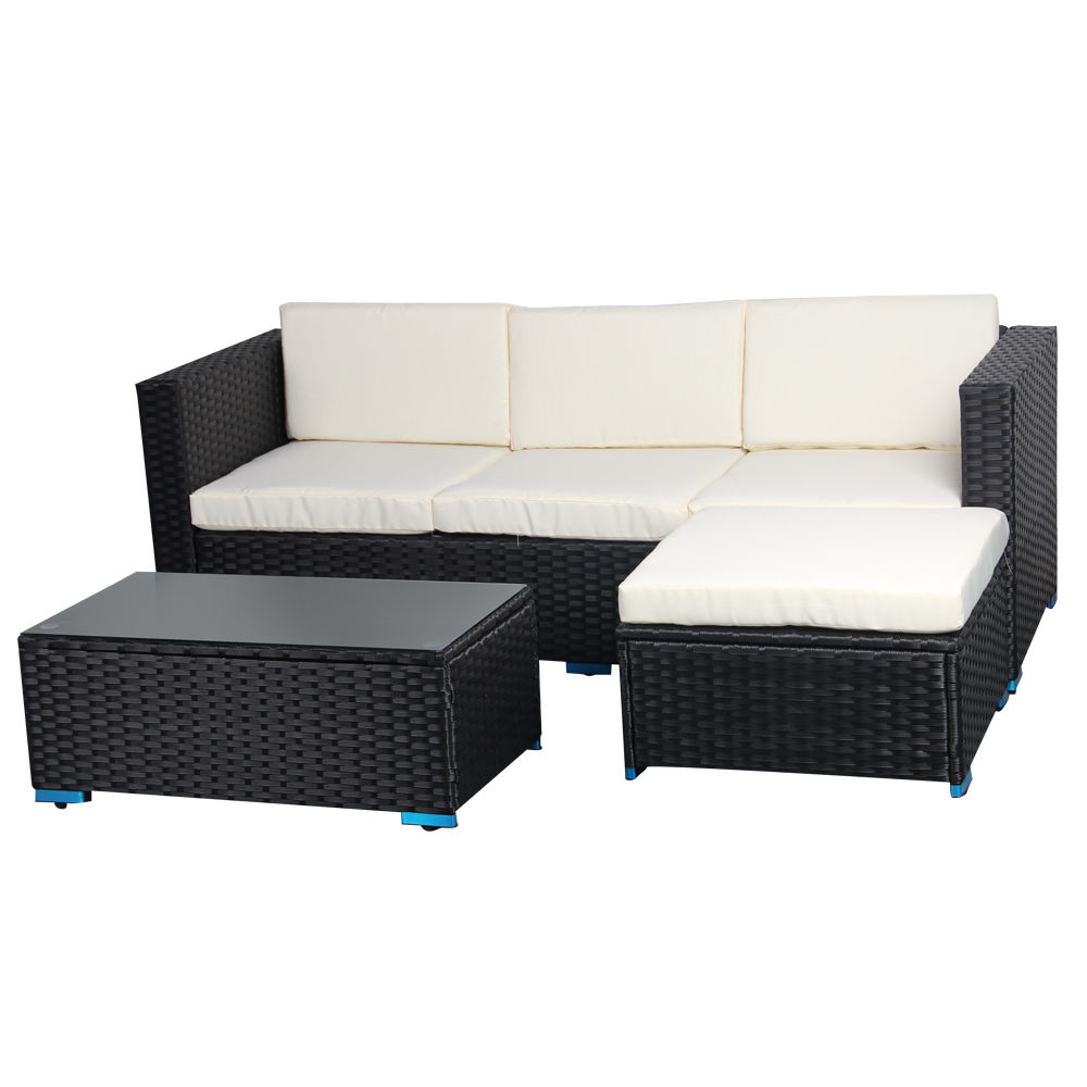 All Weather Patio Outdoor Rattan Sofa Garden Furniture For Sale High End Wicker Outdoor Rattan Furniture