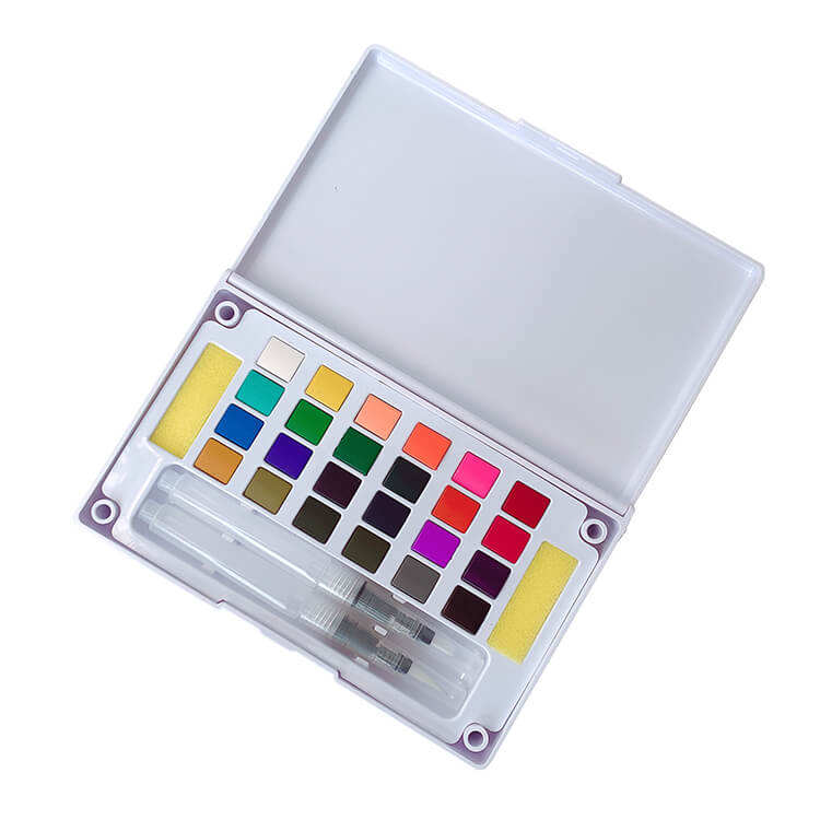 Non Toxic Portable Artist Solid Half Pan Fine Pigment Watercolour Paint