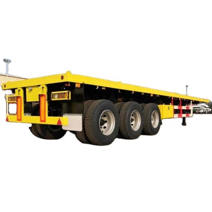 best price 40ft flatbed truck trailer load capacity trailer flatbed 40 ft tri axle flatbed container semi trailer for sale