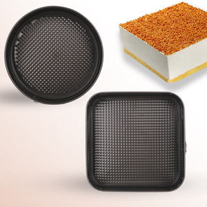 EC005 Amazon Hot Sell Heart Round Square Shape Carbon Steel Non-Stick Cake Baking Mold