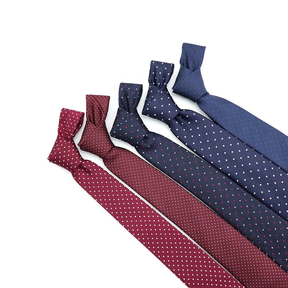 XINLI Das Modieuze Jacquard Geweven Mens Ties Multicolor Polka Dot Custom Design Tie Business Factory Hot Zijden Stropdas