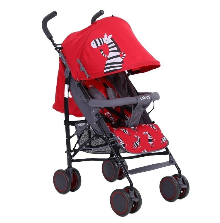 Anhui factory wholesale selling good quality baby strollers adjustable back pedal extended with basket