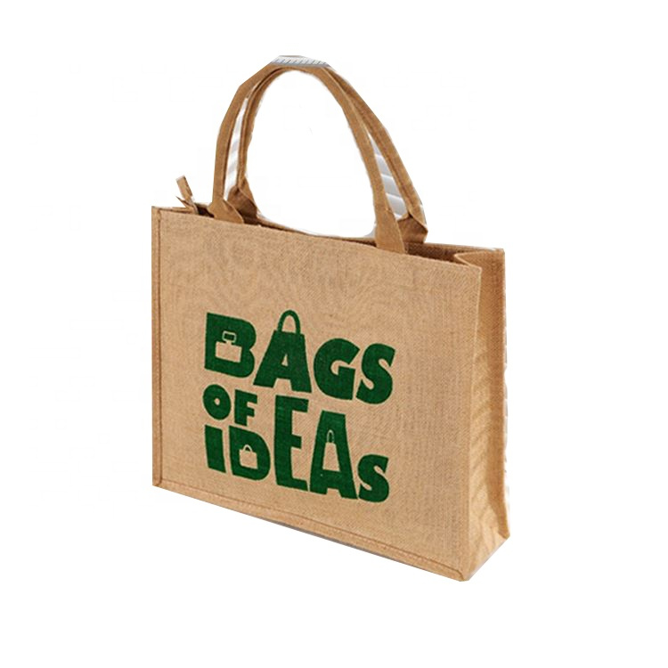 Hot sale custom foldable recycle eco friendly jute bag shopping reusable tote jute bag