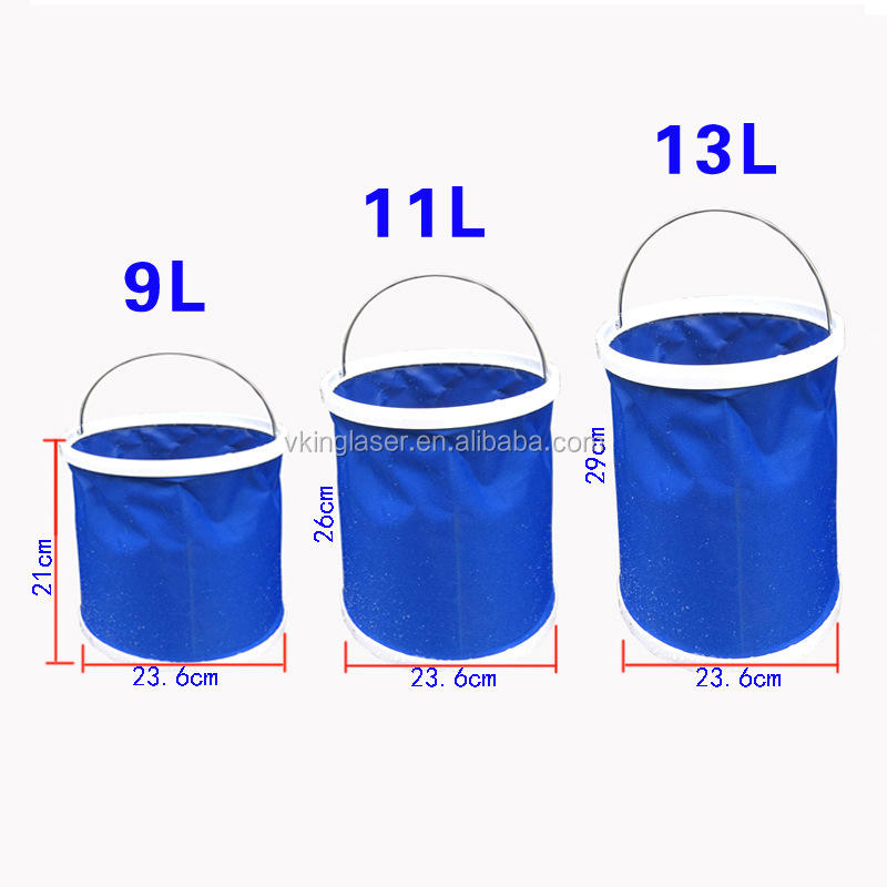 Amazon Hot sell Thickening Portable Folding Bucket Outdoor Camping Fishing Bucket Car Storage Container Car Wash Bucket Cleaning