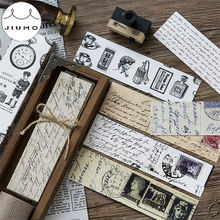 30pcs/box Vintage Retro Style Clock Newspaper Map Bookmarks for Novelty Book Reading Maker Page Creative Paper Bookmark