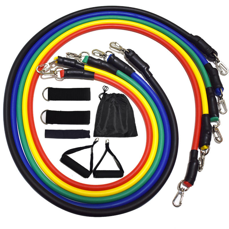 11 Stks/set Fitness Tpe Resistance Bands <span class=keywords><strong>Oefening</strong></span> Tubes Praktische Elastische Training Weerstand Buizen Set
