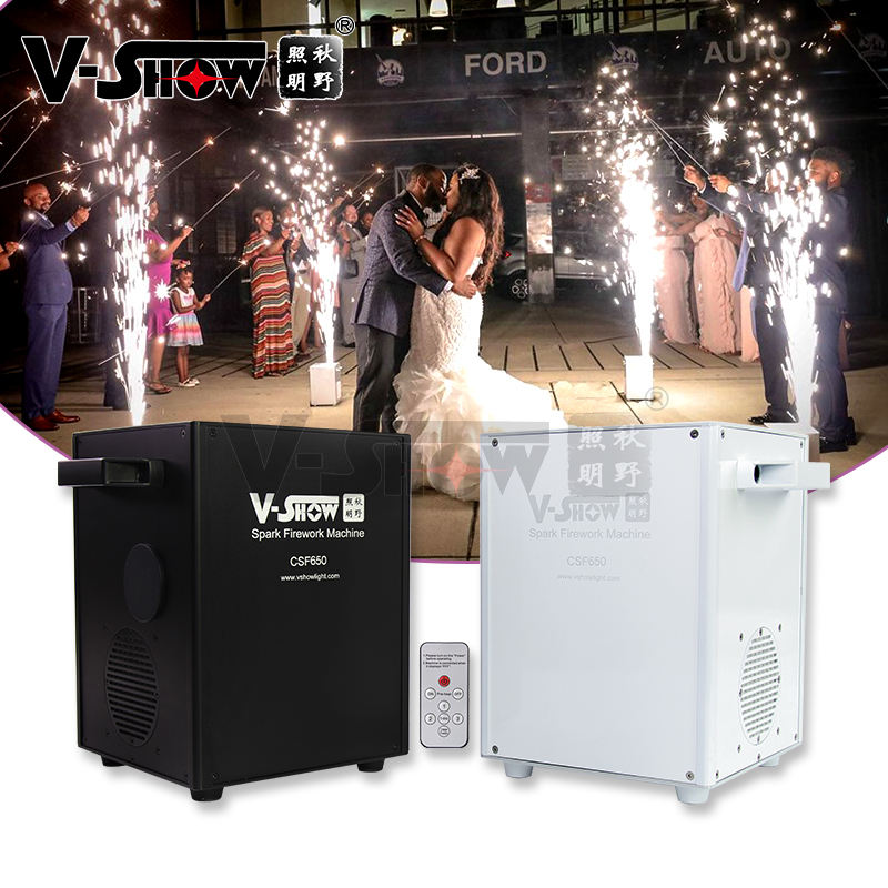 shipping from USA 4pcs with case 650W stage effect Cold Spark Firework machine Wedding cold pyrotechnics fountain