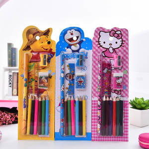 5pcs children cartoon kawaii stationery gift set