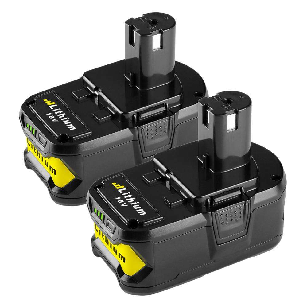 New Lithium ion Replace P108 P107 P106 P105 Rechargeable Power Tool Battery Pack 18V 5.0AH for Ryobi One Plus