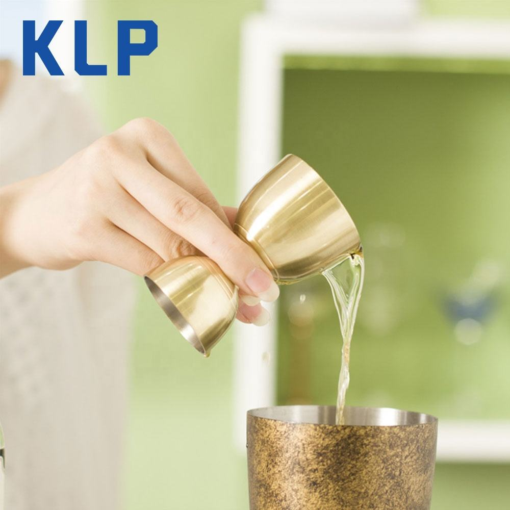KLP Stainless Steel Double Side 25/60ml Jigger Customized Bar Measures