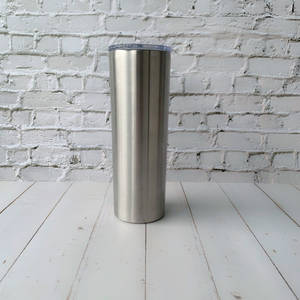 20oz skinny tumbler blank Double Wall Stainless Steel vacuum Insulated tumbler cup wholesale 304 food grade FDA